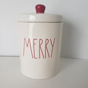 NEW Rae Dunn MERRY Lidded Container